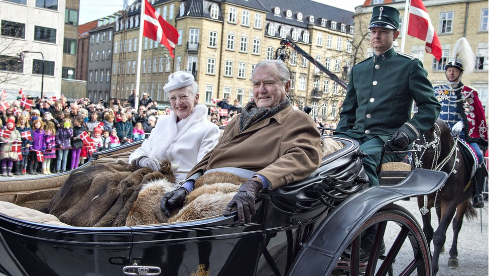 Denmark's Queen Margrethe and Prince Consort Henrik