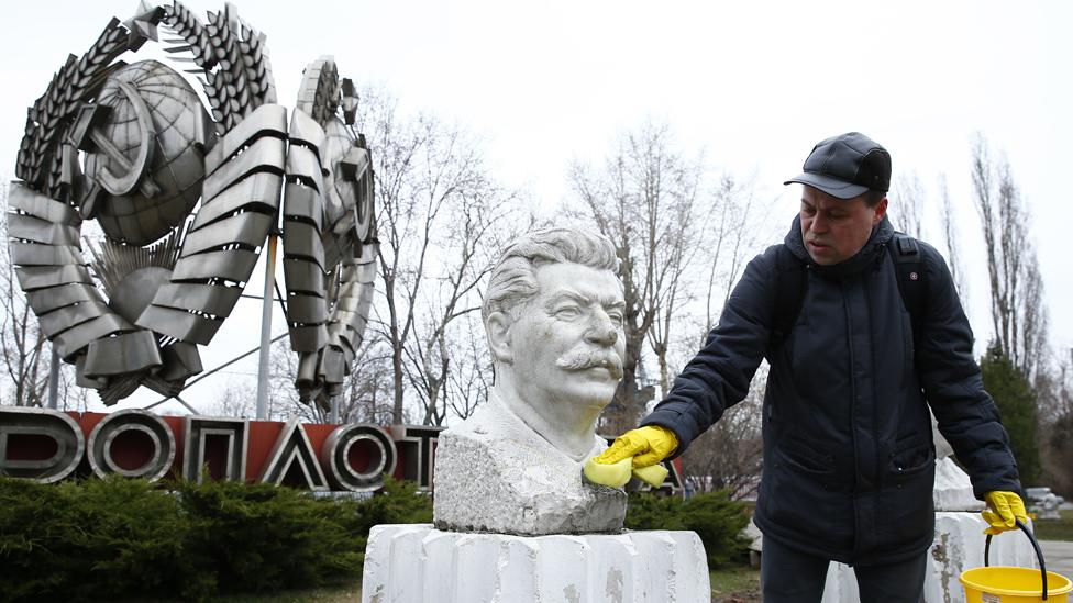 Stalin bust in Fallen Monument Park, 4 Apr 19