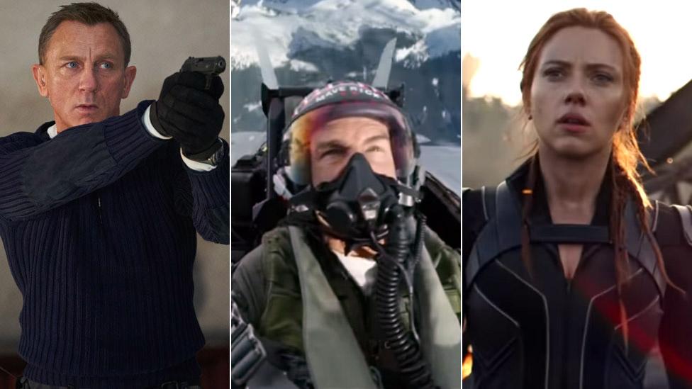Denijel Krejg (Nema vremena za umiranje), Tom Kruz (Top Gan Maverik) i Skarlet Džohanson (Crna udovica)