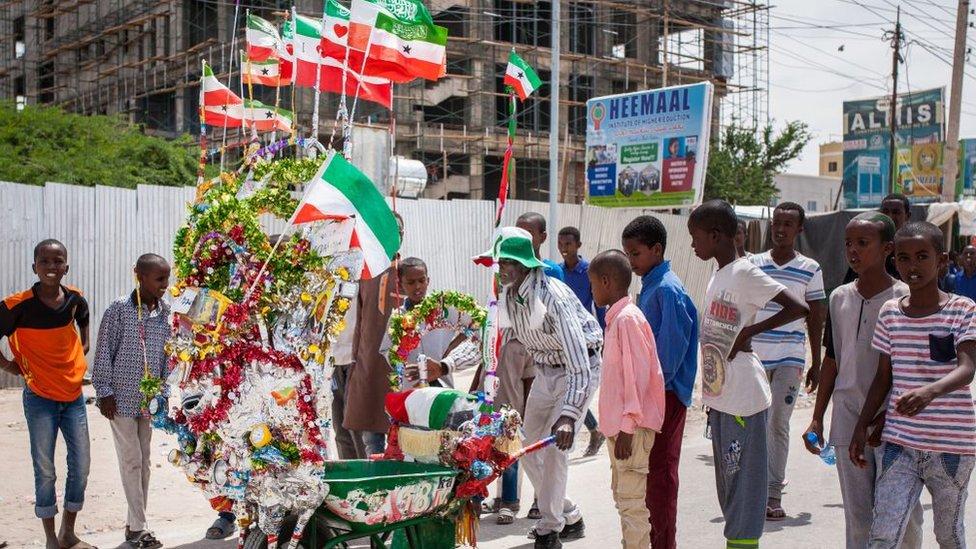 Celebraciones del 27 aniversario de la autodeclarada independencia de Somalilandia en Hargeisa, en 2018.