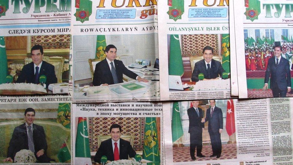 В Туркменістані заборонили портрети президента в туалетах