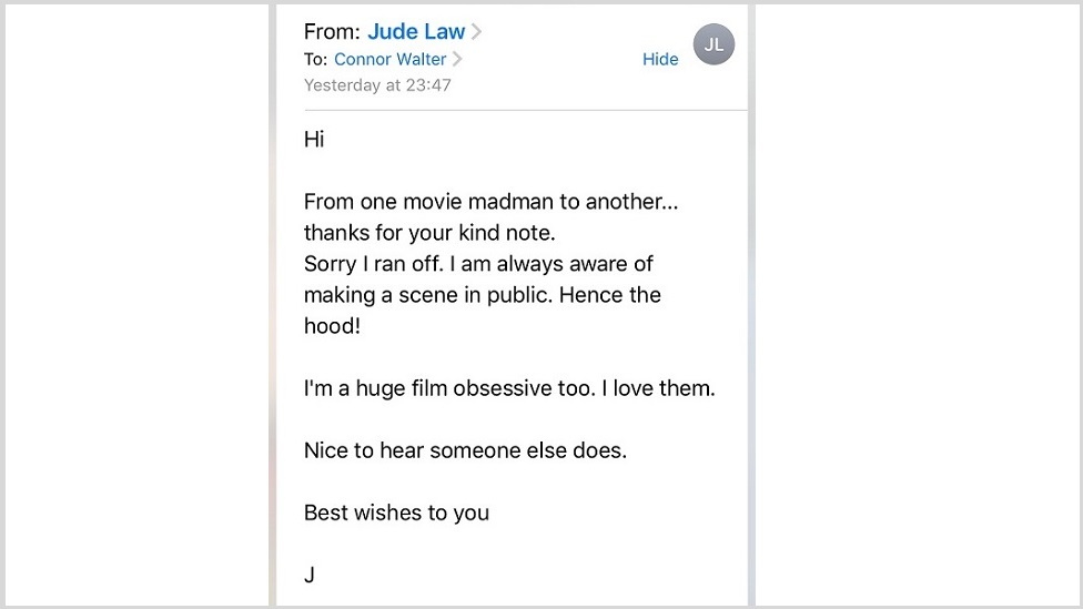 Email from Jude Law