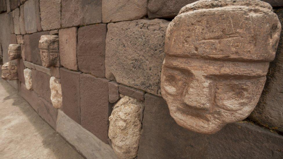 Un edificio de la cultura Tiwanaku
