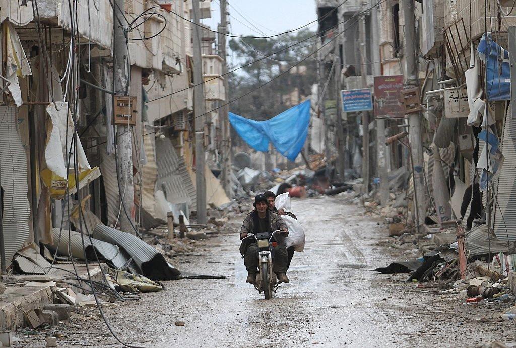 مدينة كوباني، شمال حلب في يناير/كانون الثاني 2014