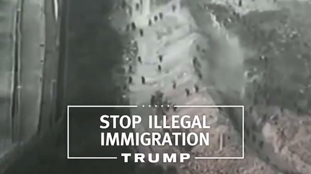 A screen capture from Donald Trump's first campaign advertisement