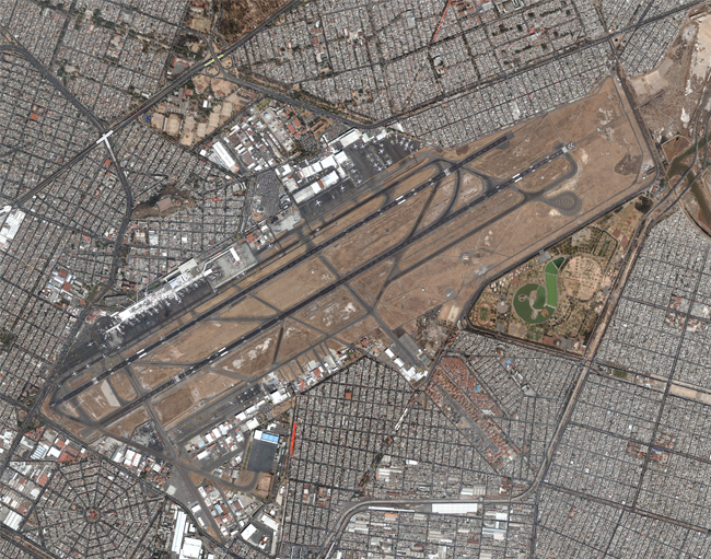 Vista aérea del aeropuerto de Ciudad de México.