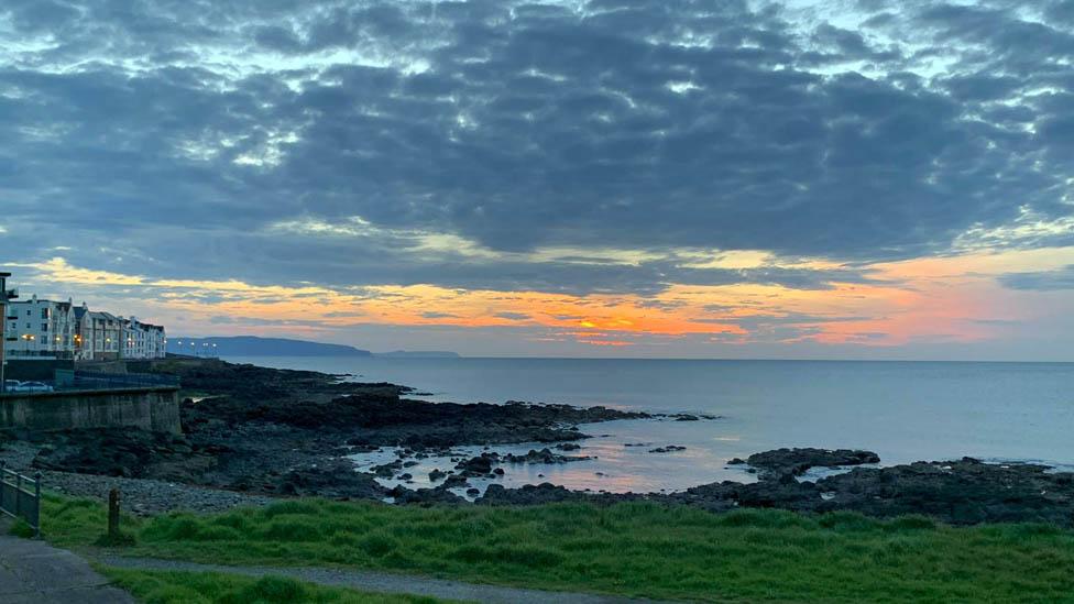 The Northern Irish coast