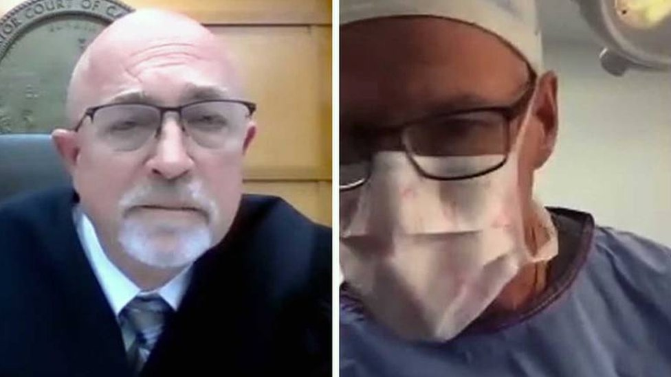 Scott Green and Gary Link during court livestream