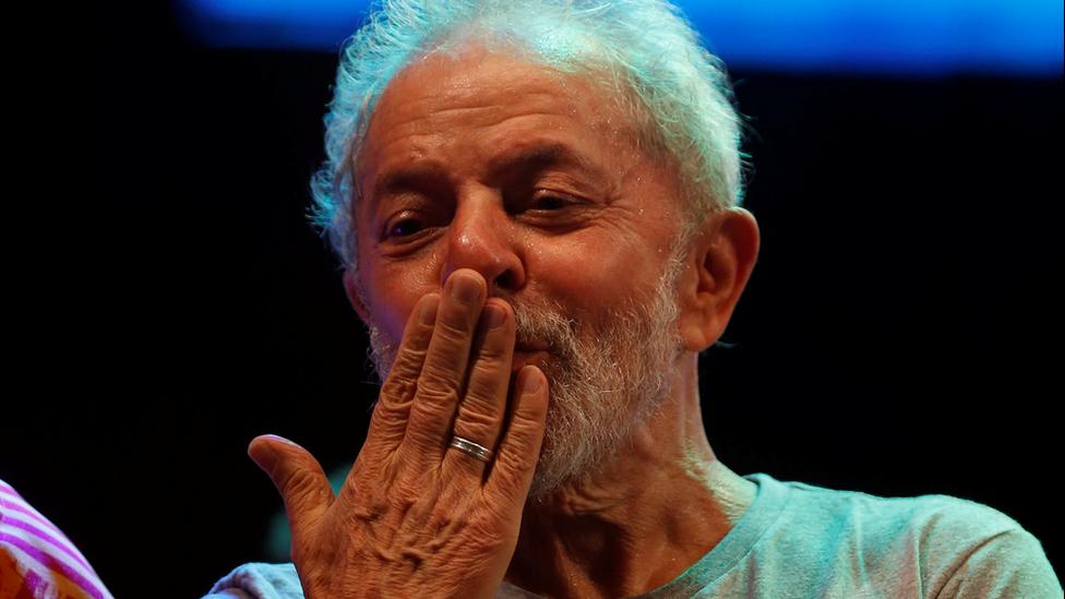 Lula durante discurso