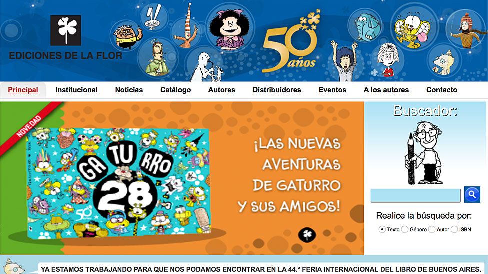 Página web de Ediciones de la Flor