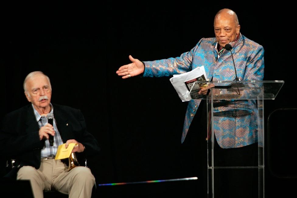 Bruce Swedien and Quincy Jones