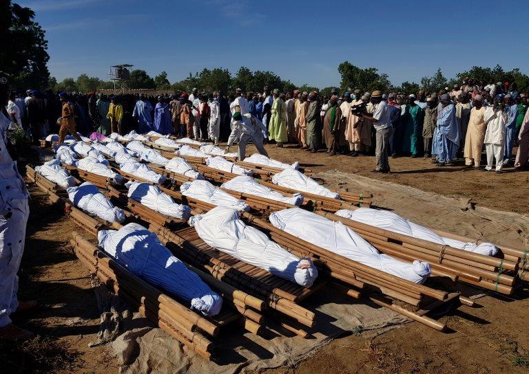Un sepelio de agricultores en Nigeria