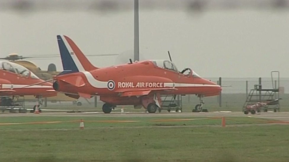 Red Arrows aircraft