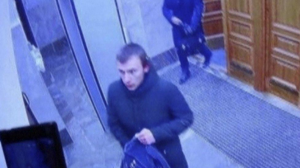 Slika osumnjičenog s kamere za nadzor u sedištu FSB u Arhangelsku
