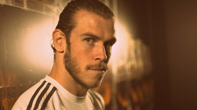 Gareth Bale at Real Madrid training ground with Sport Wales