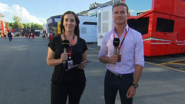 Lee McKenzie and David Coulthard