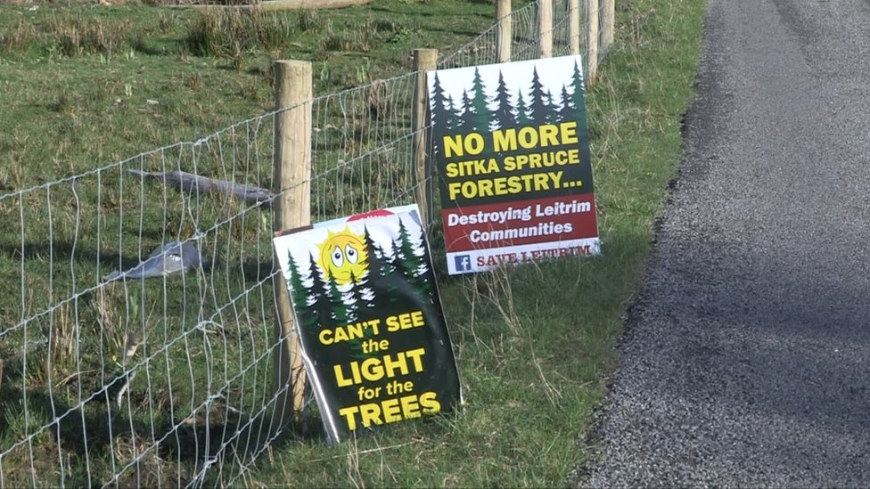 Anti forestry signs in Leitrim