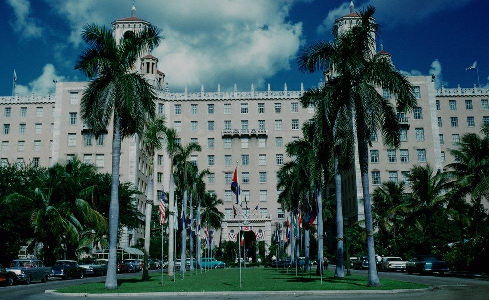 The Hotel Nacional de Cuba in Havana, Cuba, circa 1959.