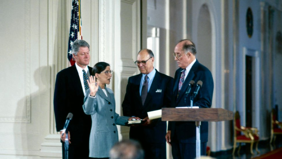 Ruth Bader Ginsburg is sworn in as Supreme Court Justice