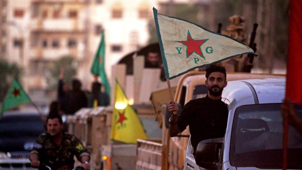 敘利亞庫爾德人民保護部隊(YPG)在美國領頭的打擊ISIS戰爭的核心盟友