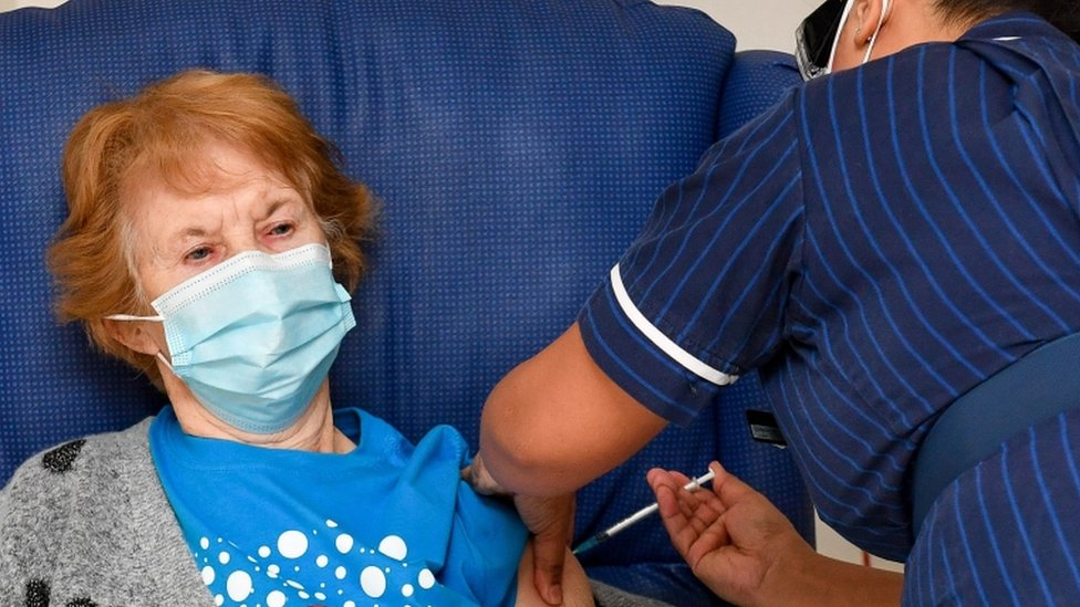 Margaret Keenan was vaccinated at University Hospital, Coventry