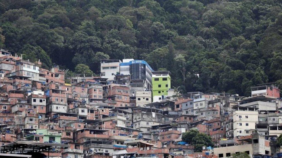 The Police Peacekeeping Unit (UPP) headquarters is seen in the Rocinha slum after violent clashes between drug gangs, in Rio de Janeiro, Brazil, October 2, 2017.