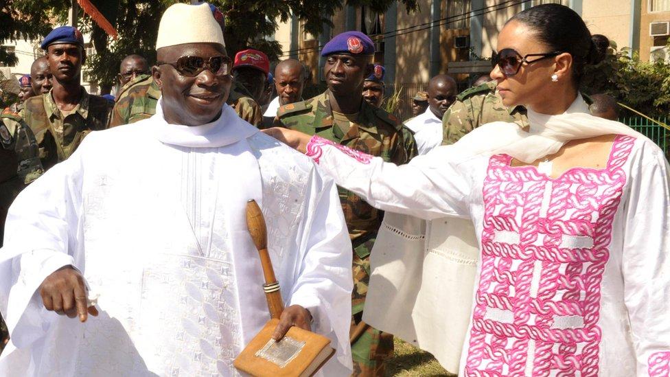 Yahya and Zeineb Jammeh in November 2011, The Gambia