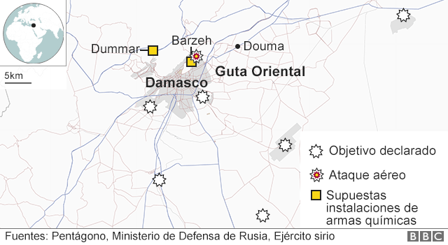 Mapa de Damasco