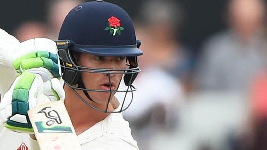 County Championship: England's Keaton Jennings hits Lancashire ton to delay Pears