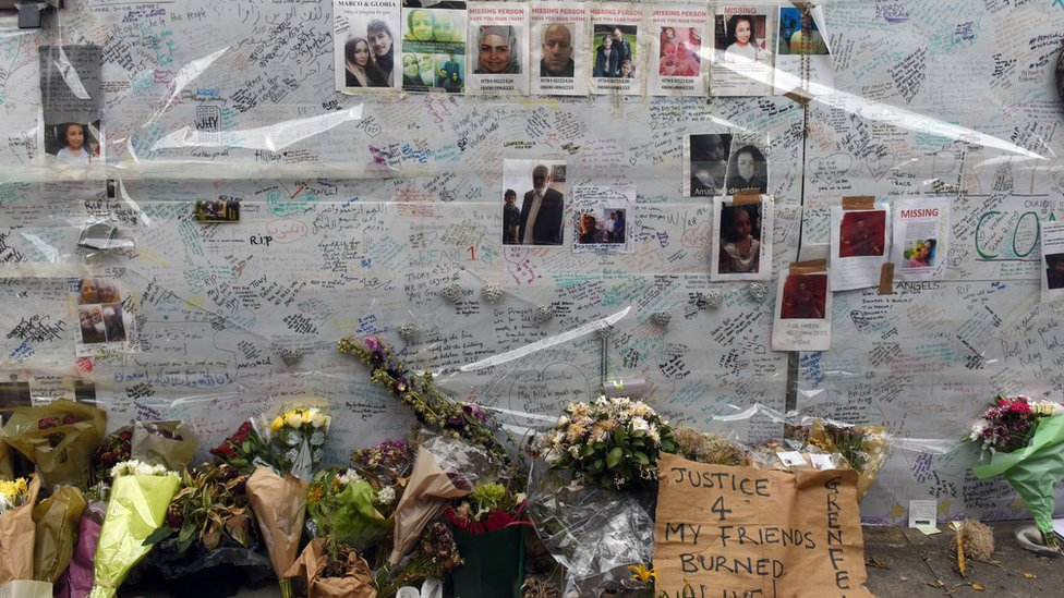 Messages of condolence for the victims of Grenfell Tower