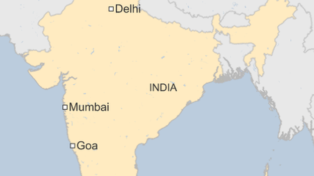 Mumbai Goa map