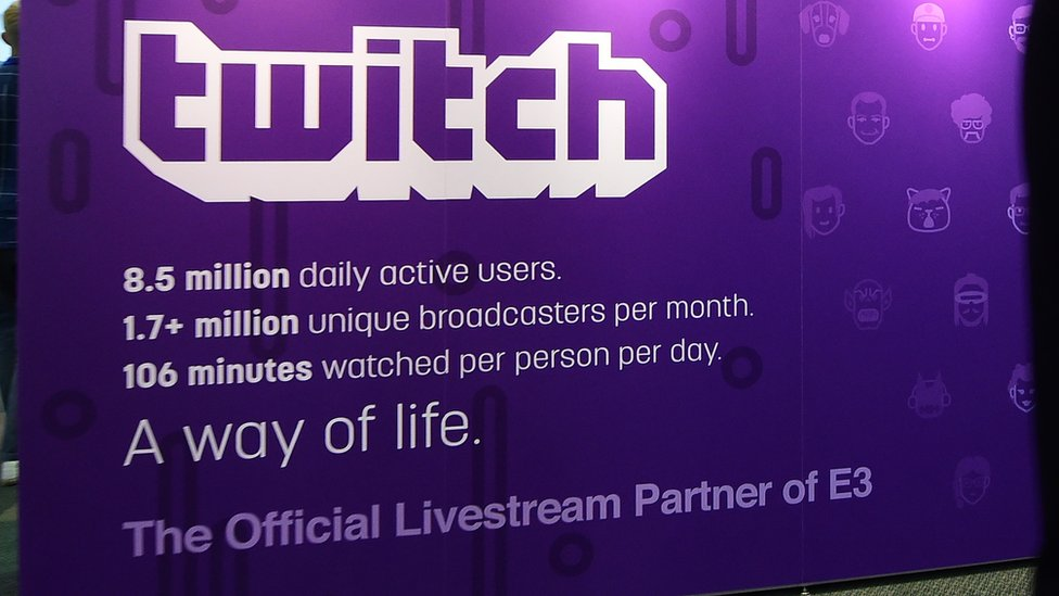 Twitch board at E3