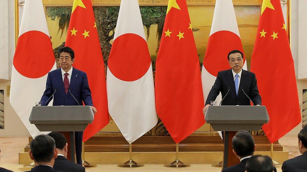 Shinzo Abe y Li Keqiang