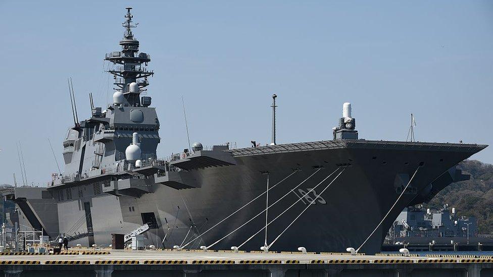 El portahelicópteros Izumo es el mayor buque de guerra japonés desde la Segunda Guerra Mundial.