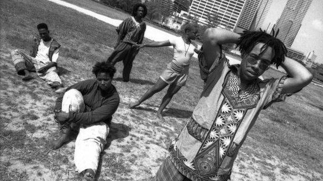Grupo de hip hop Arrested Development en Atlanta, 1992.