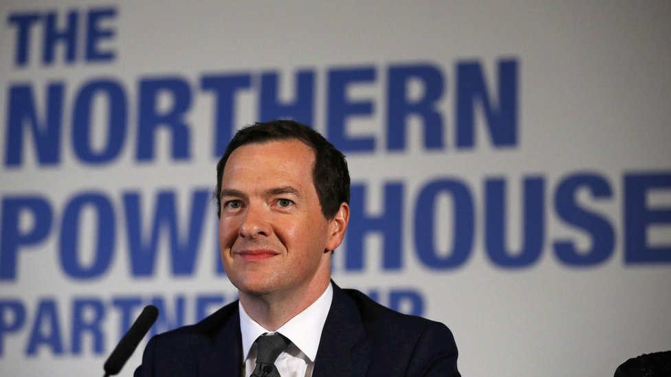 George Osborne at a meeting of the Northern Powerhouse Partnership in 2016