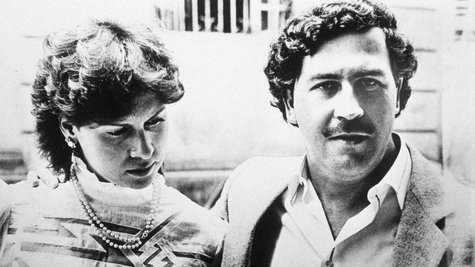 Pablo Escobar y su esposa María Victoria Enao