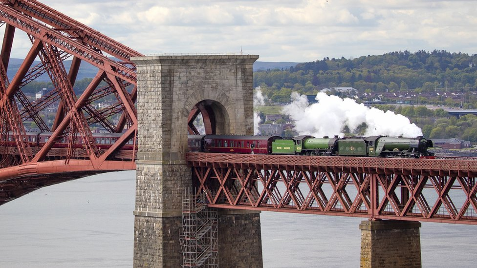 Flying Scotsman on Forth Bridge