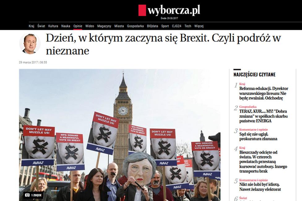 Polish newspaper website Gazeta Wyborcza