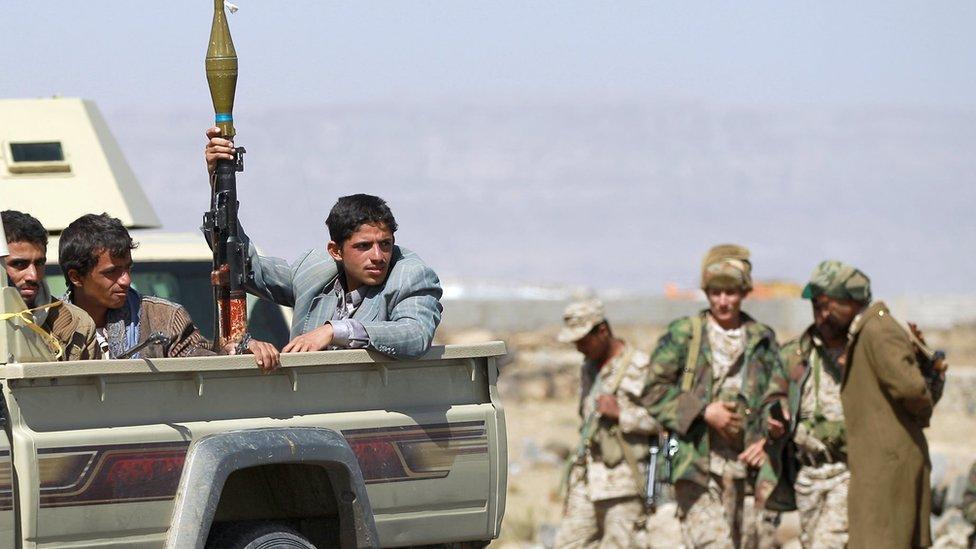 عناصر من مقاتلي جماعة الحوثي
