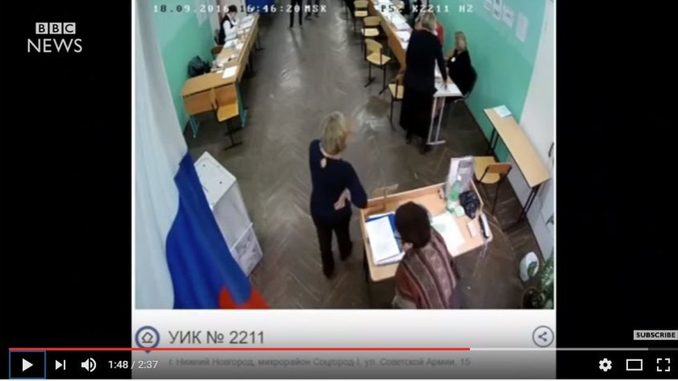 BBC News Youtube video about Russian elections