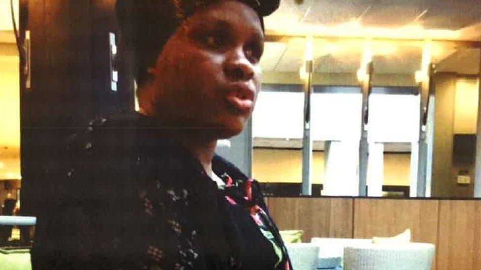 Joyce Msokeri at the Hilton hotel