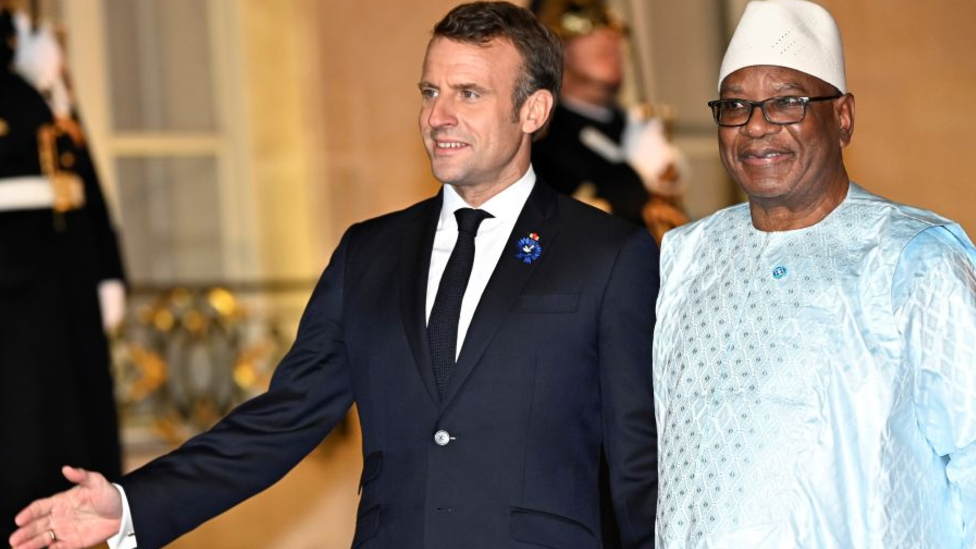 French President Emmanuel Macron with his Malian counterpart Ibrahim Boubacar Keïta in 2019
