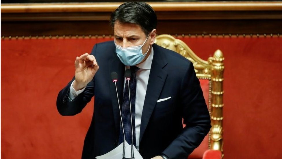 رئيس الوزراء الإيطالي جيوسيبي كونتي