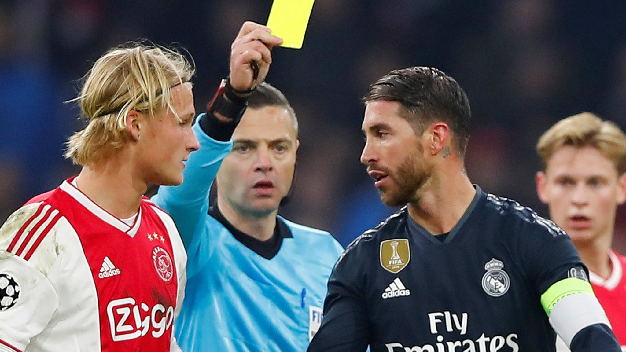 Sergio Ramos: Real Madrid defender 'had no choice' over controversial yellow card