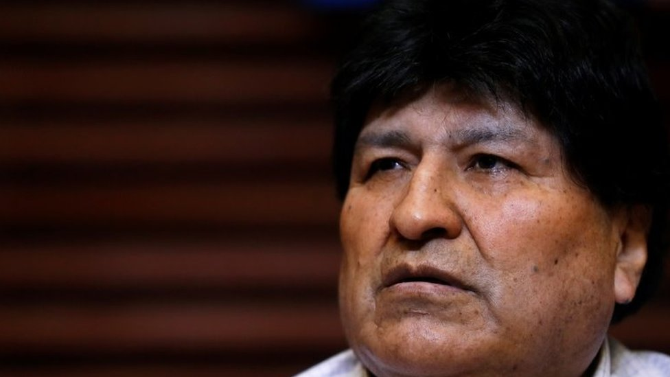 Former Bolivian President Evo Morales attends a news conference in Buenos Aires, Argentina October 22, 2020.