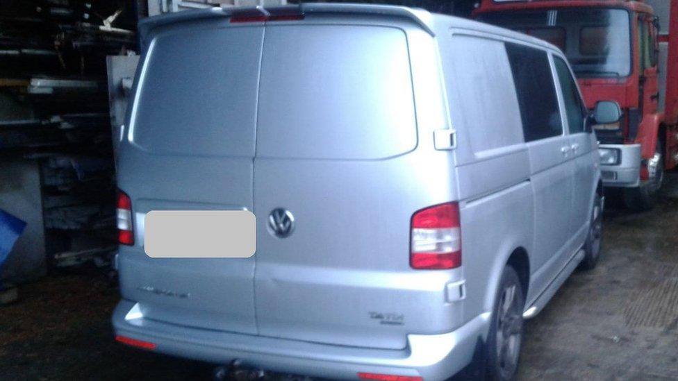 Van seized
