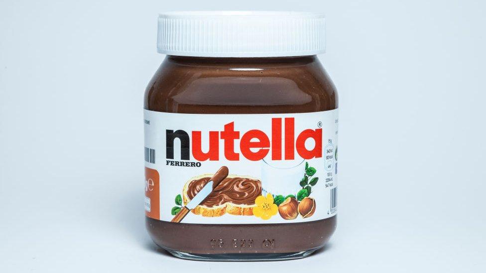 İtalya'nın ünlü kakaolu fındık kreması Nutella,