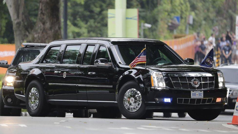 El auto presidencial de EE.UU. en Singapur