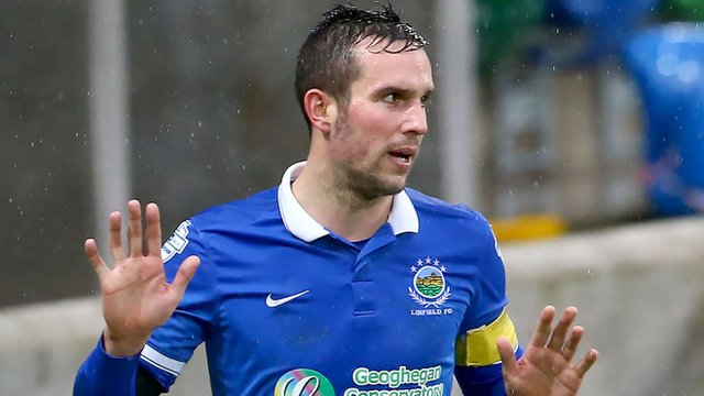 Linfield's Andrew Waterworth scored four against Armagh City